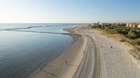 adriatic shore with sandy beach at morning