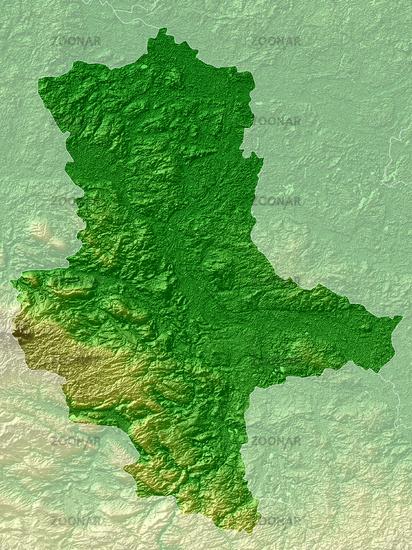 Sachsen-Anhalt Relief Karte