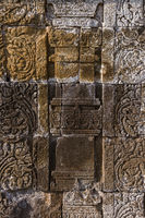 Bas-relief in Borobudur Buddist Temple - island Java Indonesia