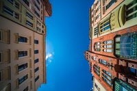 Torun city Old Town colorful buildings