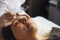 Professional cleansing of acne in a beauty salon