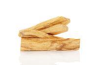 Chandan or sandalwood sticks isolated on white background.