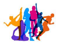 Aktive Menschen beim Sport als Fitness Konzept
