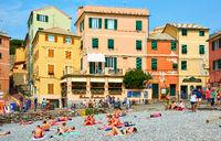 Boccadasse beach in Genoa
