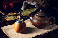 Prepare yerba mate with calabash and bombilla
