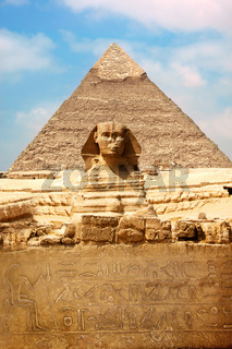 Sphinx and the Great Pyramid