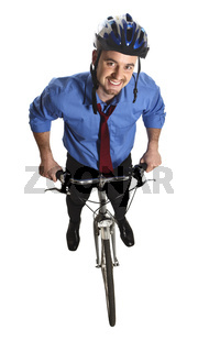 business man and bicycle