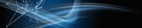Abstract plexus and elegant wave panorama design illustration