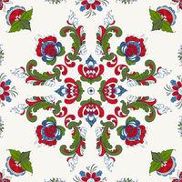 Rosemaling vector pattern 39