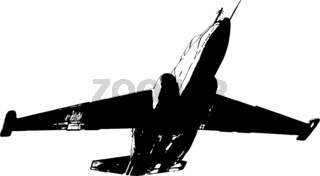 Vector image of a military fighter plane