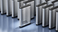 Lithium Ion battery stands out among others. 3D illustration