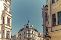 Torun city Old Town buildings
