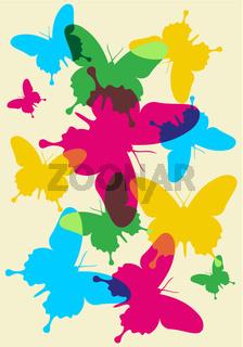Butterflies spring pattern