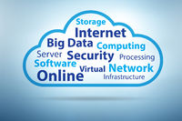 Cloud computing in technology concept