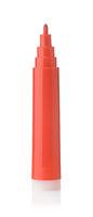 Open red felt pen