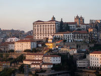 Historic Centre of Porto with Episcopal Palace and Cathedral da Sé Seen from Vila Nova da Gaia
