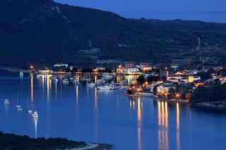 Island of Ilovik blue hour view