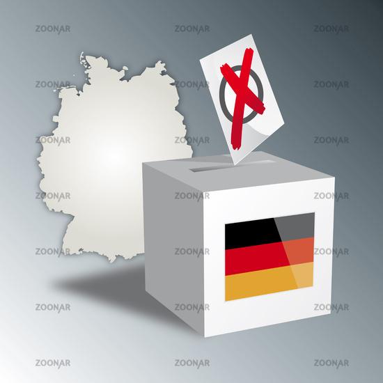 Bundestagswahl 2013 Wahlurne