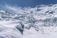 beautiful glacier against a blue sky