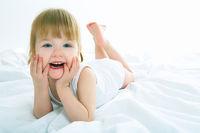 little girl have fun