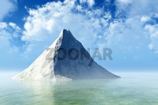 Single rock in calm sea