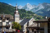 Church in the Village of the Grand Bornand, France
