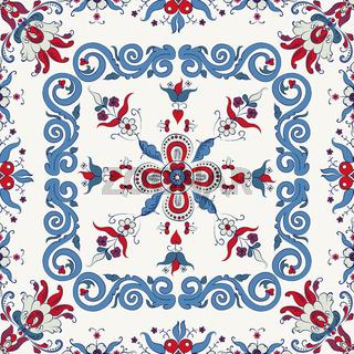 Rosemaling vector pattern 29