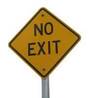 Strassenschild No Exit isoliert