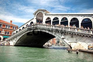 Famous Rialto Bridge