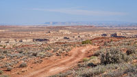desert dirt road in San Rafael Swell