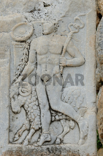 Relief Hermes mit Hammel Ephesus