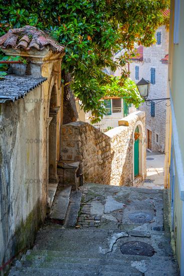 Old street in Herceg Novi