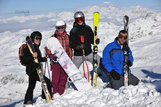 people group on snow at winter season