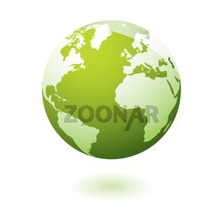 Green icon earth gel