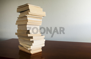 Book Stack on Table