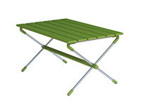 Green camping table 3D
