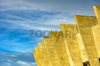Detail of famous Mineirao Stadium during sunset