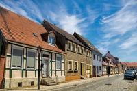 kyritz, deutschland - 03.06.2020 - strasse in der altstadt