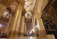 Inside impressive Giralda Cathedral in Seville. Spain
