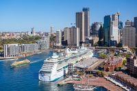 Sydney Skyline From The Harbour Bridge in Australia
