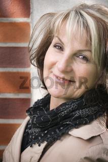 Satisfied look of woman