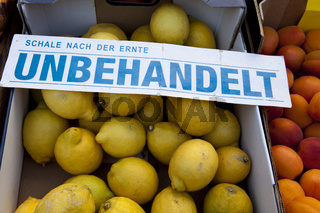 Untreated Lemons at a marketstall