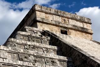 Detail of Top of Kukulkan Pyramid