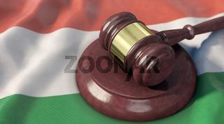 Richterhammer auf Ungarn-Fahne