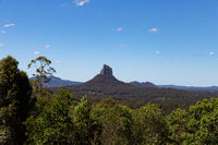 The Glass House Mountains in the Hinterland on the Sunshine Coast