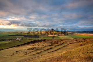 Amazing autumn view from Rana Hill in Central Bohemian Uplands, Czech Republic.