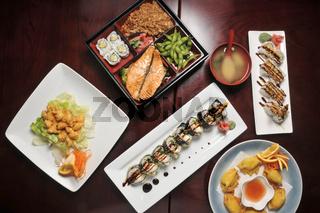 Asssorted Japanese Cuisine