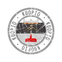 Kuopio city postal rubber stamp