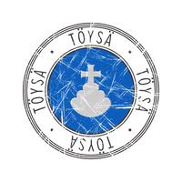 Toysa city postal rubber stamp