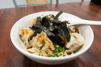 spicy wontons with noodles